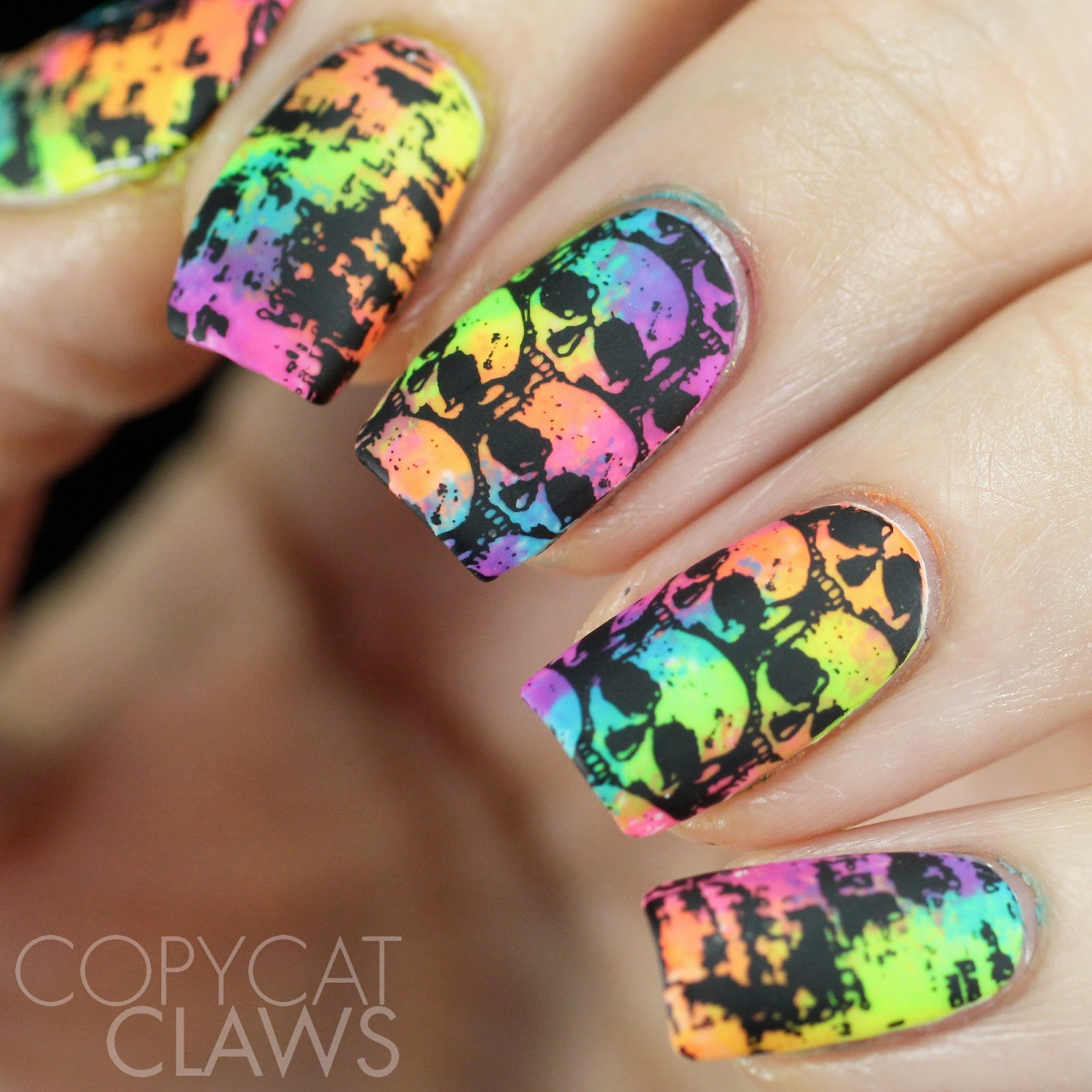 Copycat claws 26 great nail art ideas black and neon for the stamping i used mundo de unas black and two images from lina nail art supplies make your mark 04 the only thing i really switched up from the prinsesfo Gallery