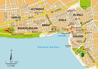 Mapa de Antalya.