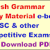 English Grammar Study Material e-book for SSC & other Competitive Exams Free Download PDF