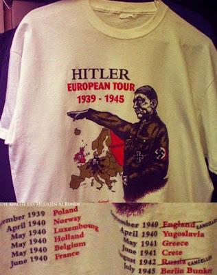 Adolf Hitler auf T-Shirt lustig mit Text