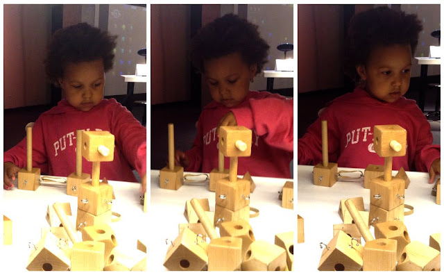 Wooden puzzle fun at Great Lakes Science Center this Summer #thisiscle | @mryjhnsn