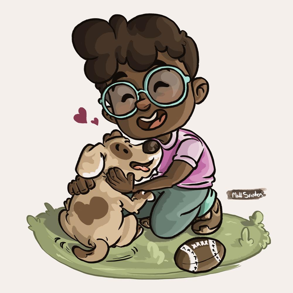 Ilustração Infantil: Adote um amigo!
