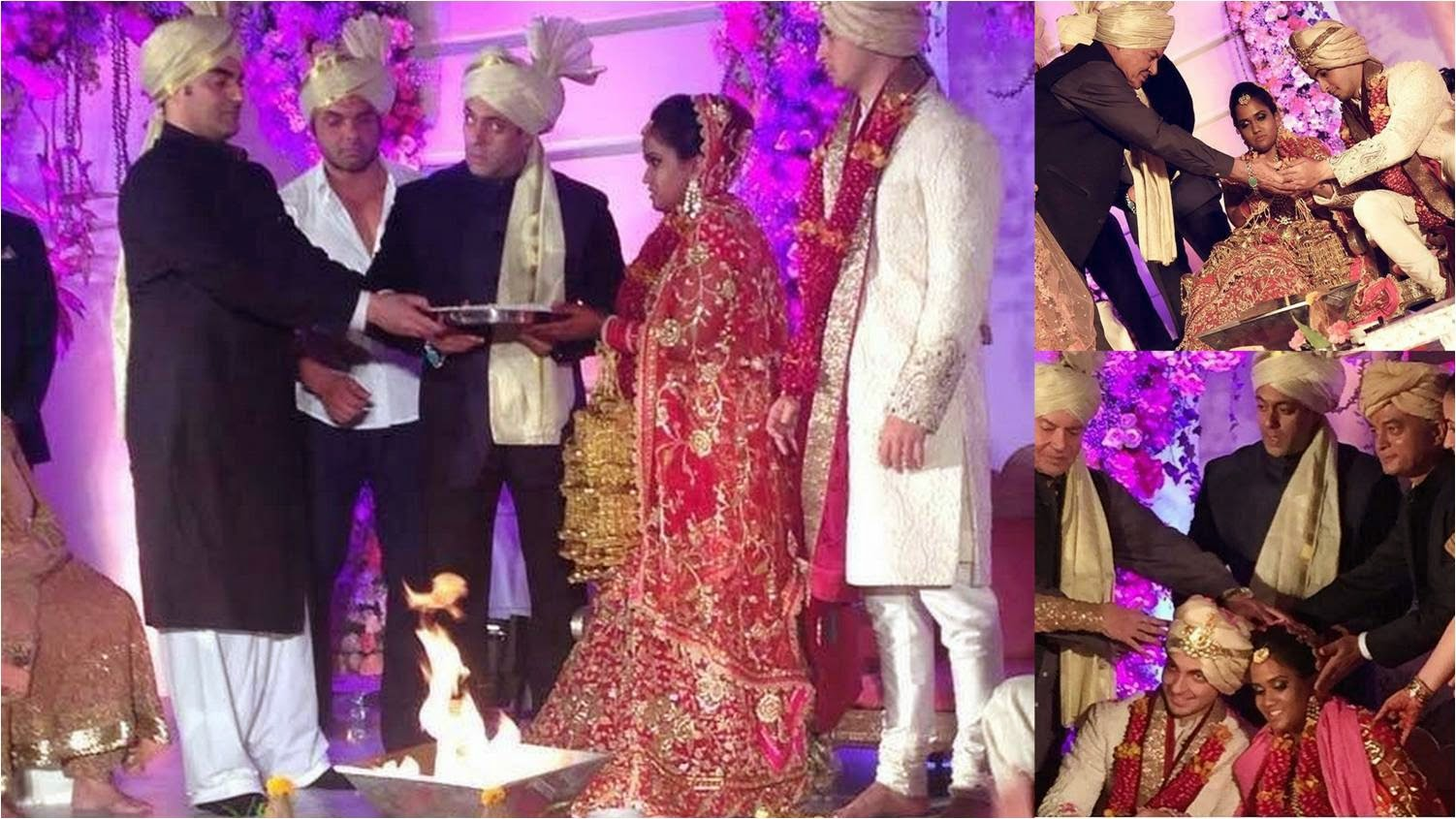 Arpita and Aayush took seven vows