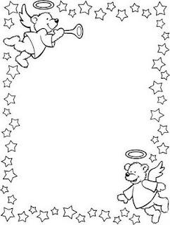 Marcos Navideños Para Colorear Dibujos Infantiles