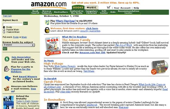 Amazon October 1998