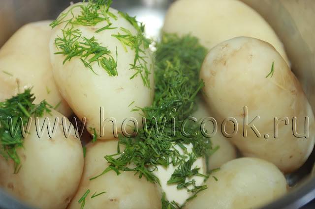 рецепт молодого картофеля с укропом и сливочным маслом с пошаговыми фото