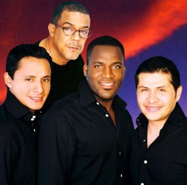 Foto de cantantes del Grupo Niche de negro