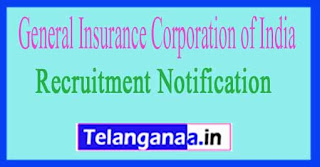 General Insurance Corporation of India GIC Recruitment Notification 2017