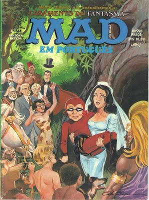 Revista Mad Avacalhando o Casamento do Fantasma
