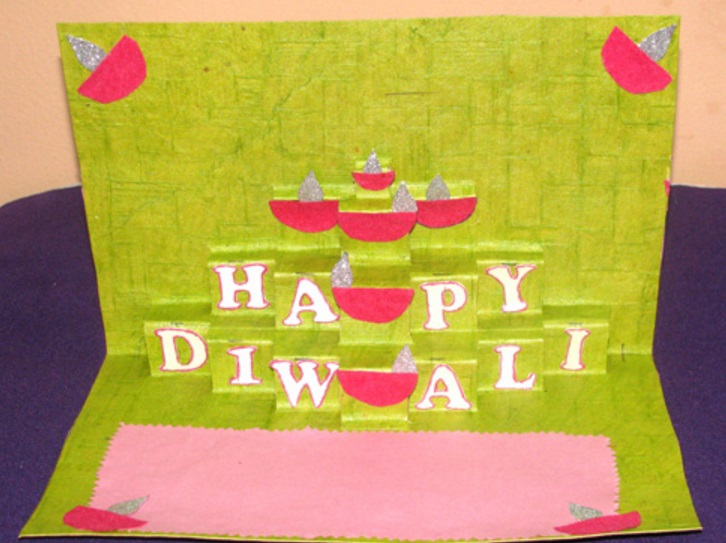 Beautiful Diwali Greeting Card Making Ideas Part - 13: I Enjoy Making Greeting Cards For Diwali.