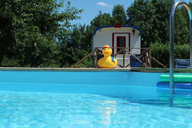 zwembad, frankrijk, pipowagen