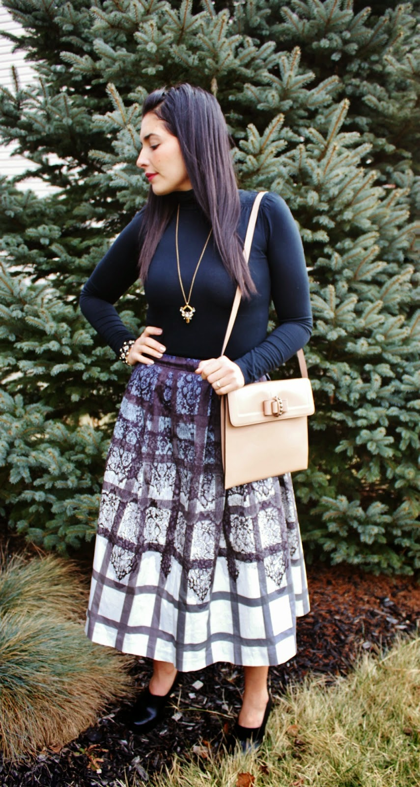 My Simple Modest Chic Feminine In Plaid Amp Lace