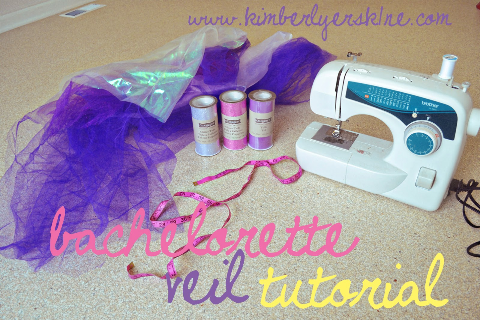 As The Bachelorette Party Series Continues I M Sharing My Next Diy Tuorial On How To Make A Fun And Sy Veil