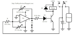 wiring diagram for car: Battery Charger Control Circuit