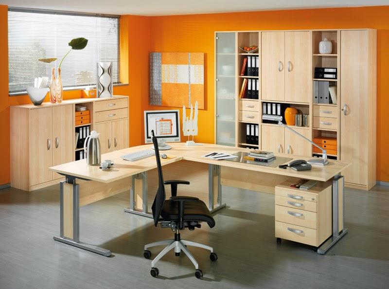 oficinas color naranja colores en casa