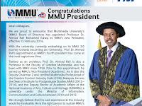 Congratulations MMU President