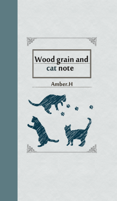 Wood grain and cat note No.2