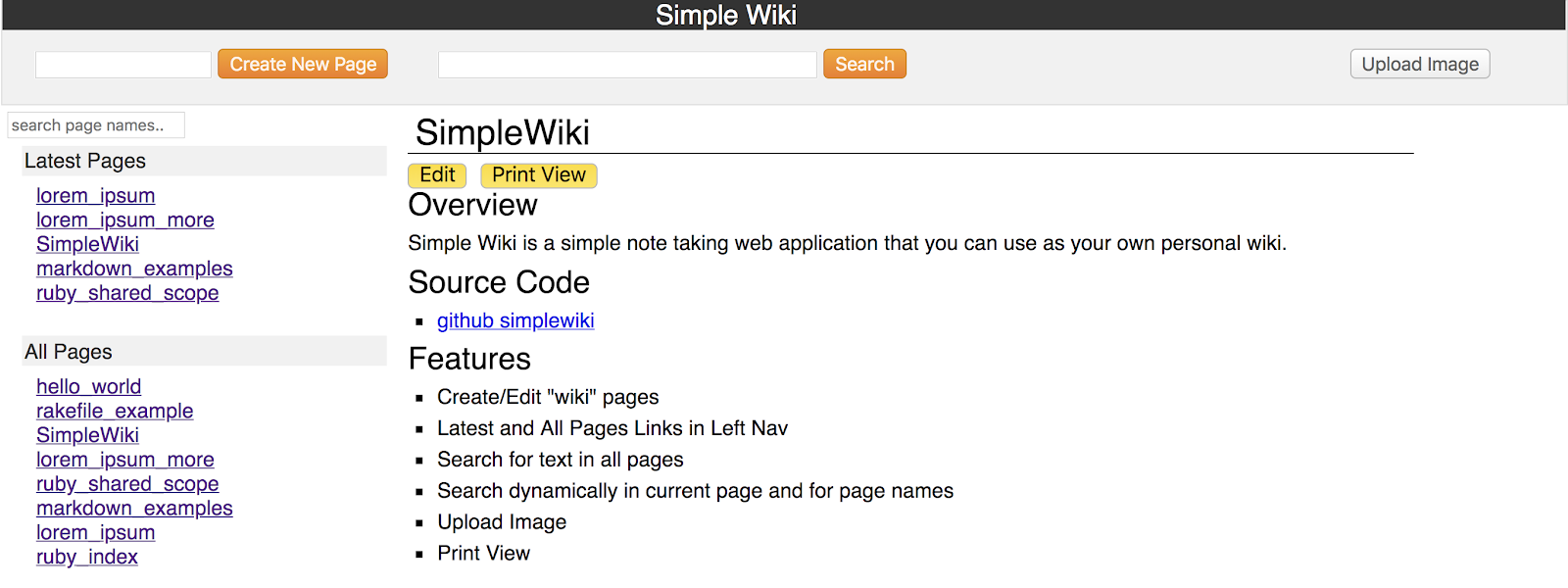 SimpleWiki - simple note taking system | Ruby Programming