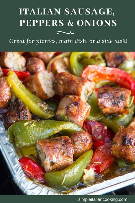 Italian Sausage, Peppers And Onions And Recipe