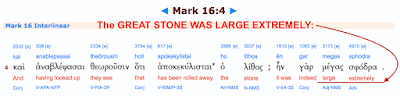 Mark 16:4. THE GREAT STONE.
