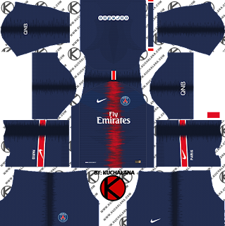 f8d179c20 Paris Saint-Germain PSG Kits 2018 19 - Dream League Soccer Kits ...