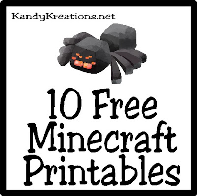 Celebrate at your next Minecraft birthday party with these 10 free Minecraft printables.  Find printables that are perfect for adding to a party, a lunch date, or just to make an every day a little more fun.