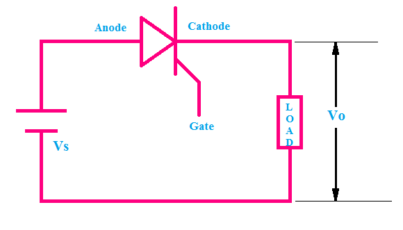 Step Down Chopper circuit diagram