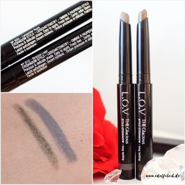 L.O.V, neue Produkte, Glacious Stylo Eyeshadow, swatch