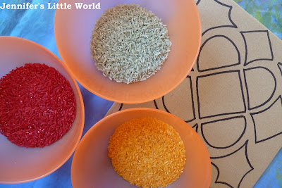 How to dye rice for rangoli