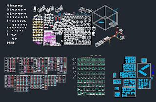 Ingenier a y arquitectura bloques de autocad for Mobiliario lavadero