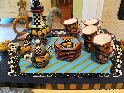prospero designworks tea set Studio designworks tea set with hand painted tray