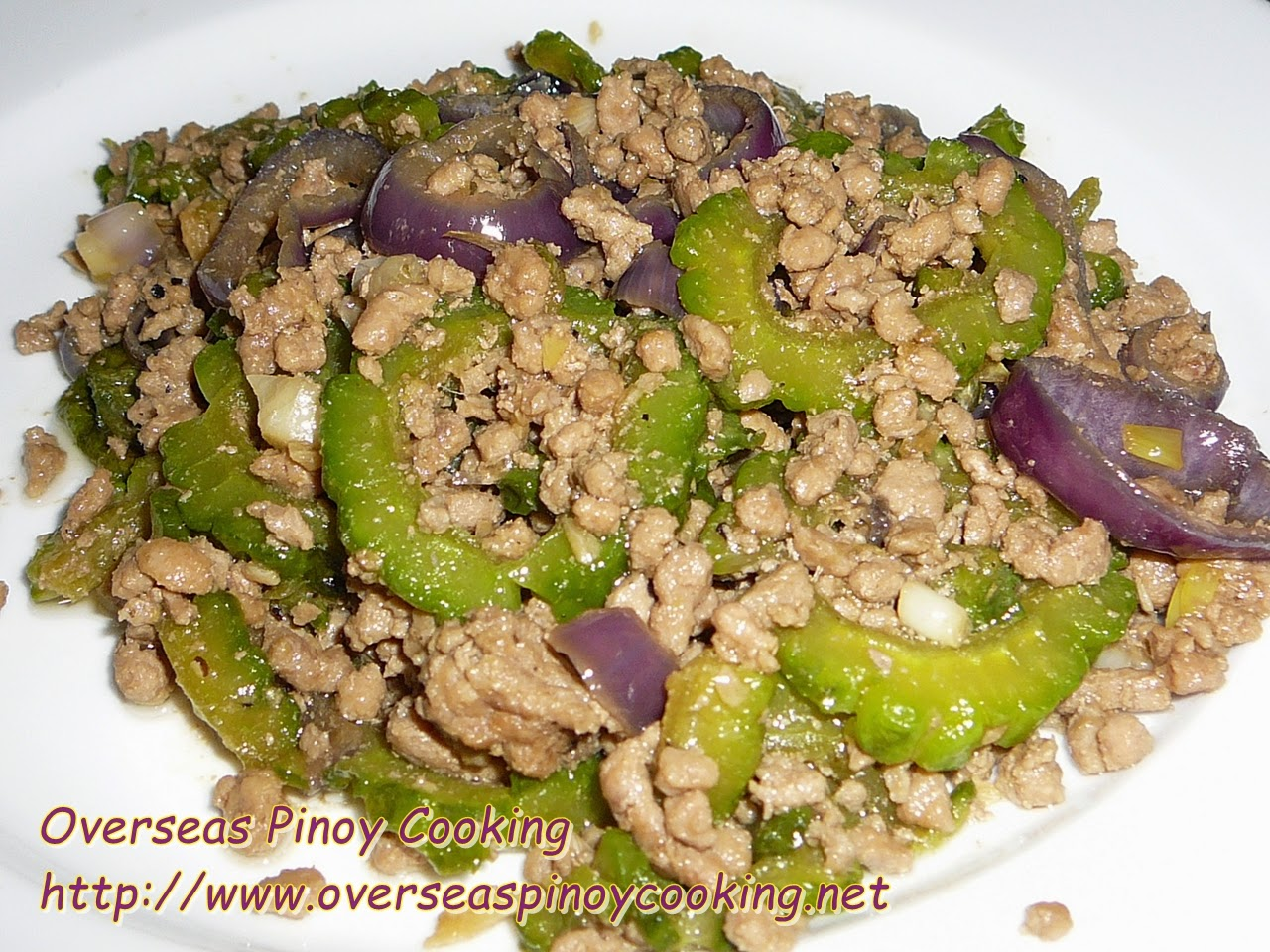 Pork Giniling with Ampalaya