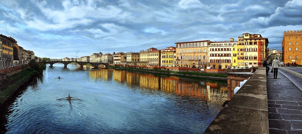 01-Arno-Florence-Italy-Anthony-Brunelli-Cities-&-Architecture-seen-through-Paintings-www-designstack-co