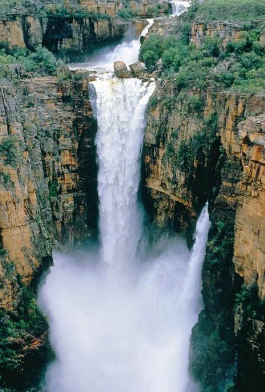 Jim Jim Falls during the wet season, Kakadu National Park, Australia-Kakadu National Park, Alligator Rivers Region, Northern Territory