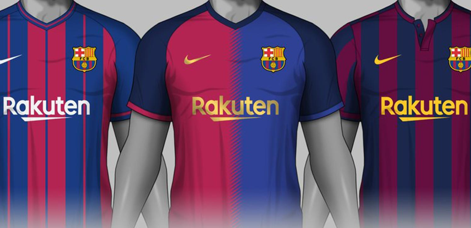 b7b820b8071 Italian graphic designer Carrino (@VinCarrino) has created not less than  three stylish and unique Nike FC Barcelona jersey concepts.