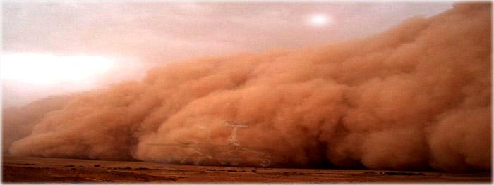 tempestade de areia em Marte