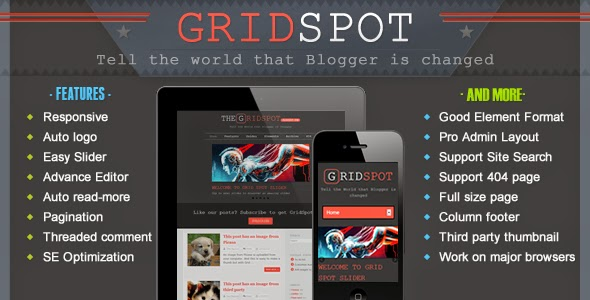 Download Free Grid Spot Blogger Template