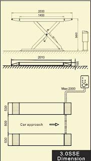 Bản vẽ cầu nâng cắt kéo Titano 3.0SSE