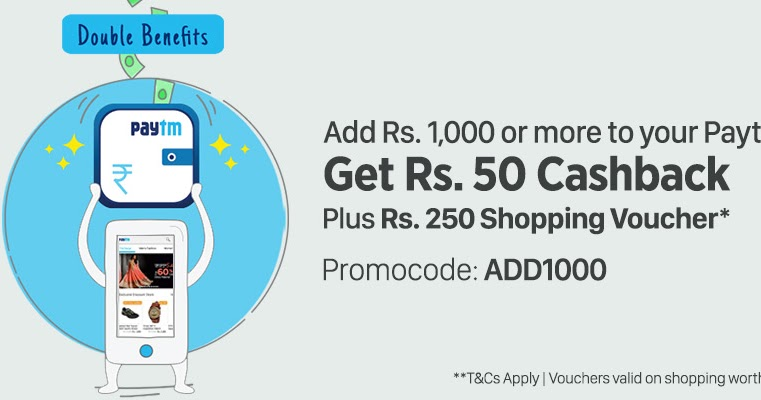 Coupon code to add money to paytm wallet