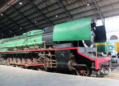Tren antiguo. Museo del Ferrocarril de Madrid