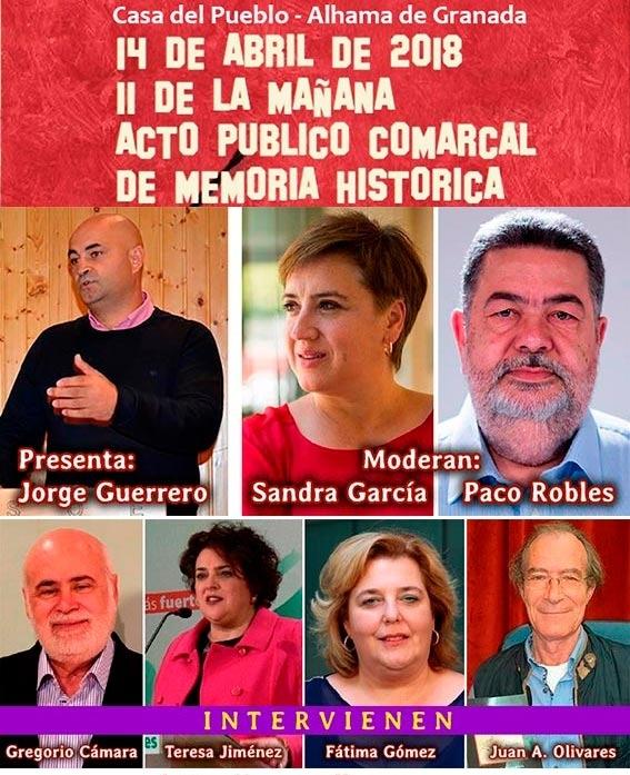 Intervinientes en el acto de Memoria Democrática