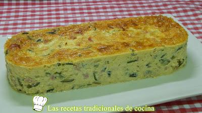 Cómo hacer terrina de calabacín, jamón cocido y queso