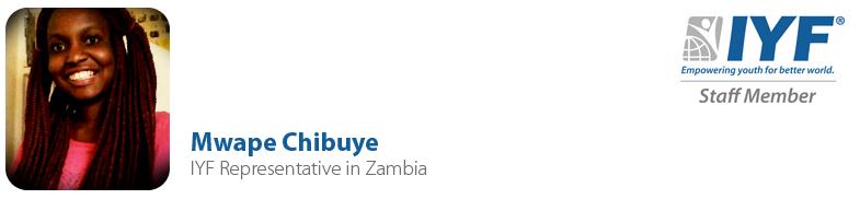 Mwape Chibuye, IYF Representative in Zambia