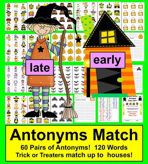 https://www.teacherspayteachers.com/Product/Halloween-Activities-Literacy-Centers-SPOOK-tacular-Antonyms-60-Pairs-389259
