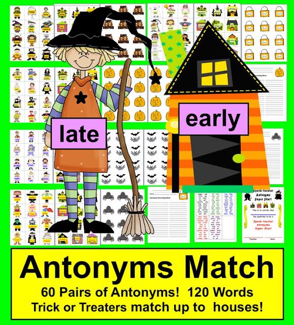 https://www.teacherspayteachers.com/Product/Halloween-Activities-Literacy-Centers-SPOOK-tacular-Antonyms-60-Pairs-389259
