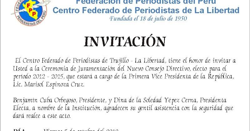 Notas De Prensa Invitación Dia Del Periodista Y