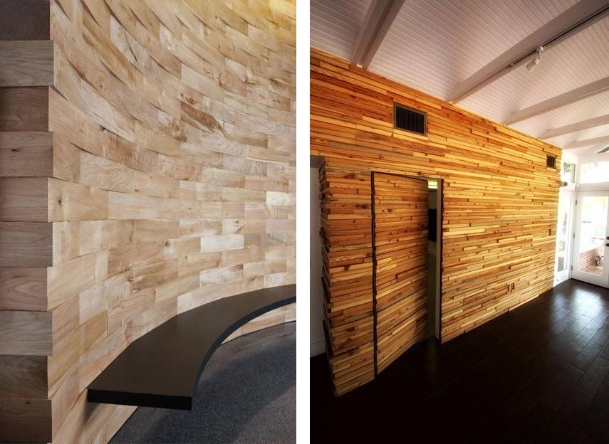 Revestimientos de madera reciclada inspiraci n espacios - Madera para paredes ...