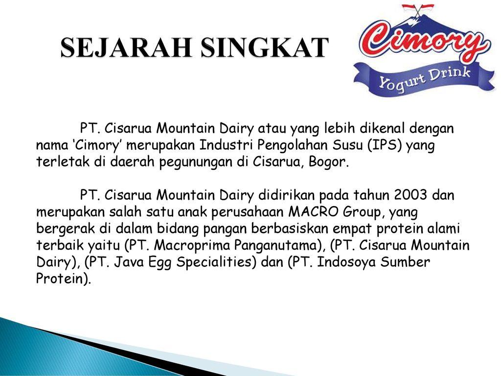 Lowongan Kerja Pabrik Terbaru Pt Cisarua Mountain Dairy Cimory Group