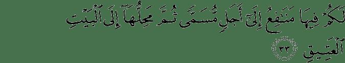 Surat Al Hajj ayat 33