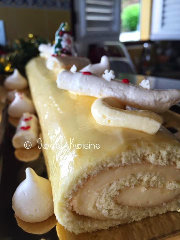 Sweet kwisine, citron, noel,bûche de noel, meringues, coulis de framboises